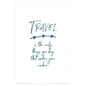 Geschenkideen für Reisende Poster Travel buy richer