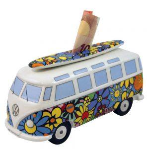 Geschenkideen für Reisende VW Bus Samba Spardose