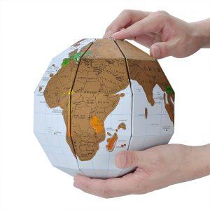 Geschenkideen für Reisende Pappglobus Scratch Weltkarte Rubbeln Globus