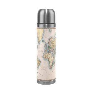 Geschenkideen für Reisende Trinkflasche Weltkarte
